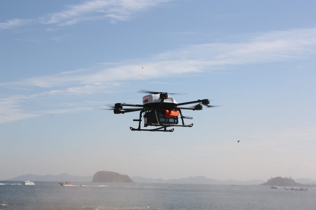 Medical supply delivery by drone with LTE network ...